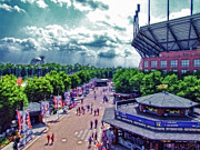 Ashe Photos - USTA Grounds Flushing Meadows by Nishanth Gopinathan
