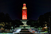 Ut Framed Prints - UT Tower 50 Framed Print by Andrew Nourse