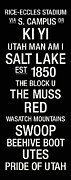 Wasatch Posters - Utah College Town Wall Art Poster by Replay Photos
