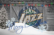 Dunk Metal Prints - Utah Jazz Metal Print by Joe Hamilton
