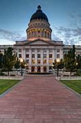 State Legislature Framed Prints - Utah State Capitol Building Framed Print by Utah Images