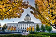 Kayta Kobayashi - Utah State Capitol with Fall Leaves