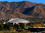 Athletics Photo Prints - Utah Utes Jon M. Huntsman Center Print by Replay Photos