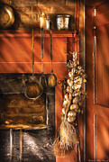 Fireplace Photos - Utensils - Garlic and Spoons by Mike Savad
