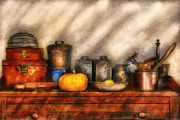 Dresser Framed Prints - Utensils - Kitchen Still Life Framed Print by Mike Savad