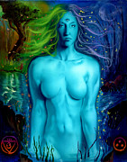 Third Eye Framed Prints - Utopian Seer Framed Print by Luis  Navarro