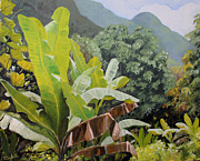 Puerto Rico Painting Metal Prints - Utuado Puerto Rico Metal Print by Nancy Campbell