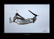 Osprey Prints Framed Prints - V-22 Osprey Framed Print by Larry McManus