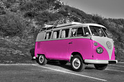 V-dub In Pink  Print by Rob Hawkins