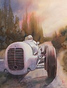 Original Watercolor Paintings - V8ri by Robert Hooper