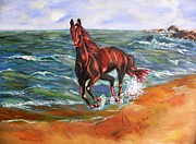 Mustang Paintings - Vacation by Geeta Biswas