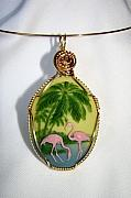 Flamingos Jewelry - Vacation Time by JoLen Confer