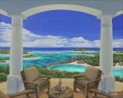 Villa Paintings - Vacation View by Jane Girardot