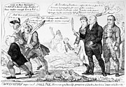 Cruikshank Art - Vaccination Cartoon, 1808 by Granger
