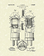 Patent Artwork Drawings Metal Prints - Vacuum Tube 1929 Patent Art Metal Print by Prior Art Design