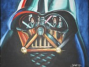 Jedi Painting Posters - Vadars Reflections Poster by Jane Bush
