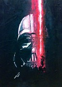 Darth Vader Paintings - Vader # 4 by Wade Edwards
