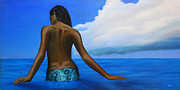 Topless Paintings - Vahine de Tahiti by Wahine Art
