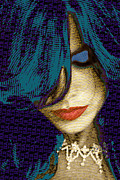 Beautiful Eyes Mixed Media Posters - Vain 2 Size 2 Poster by Tony Rubino