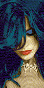 Beautiful Eyes Mixed Media Posters - Vain 2 Poster by Tony Rubino
