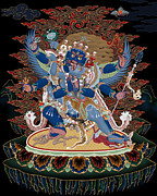 Tibet Mixed Media Prints - Vajra Kila Print by Chris  Banigan