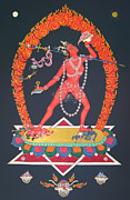 Tibetan Buddhism Paintings - Vajrayogini by Carmen Mensink