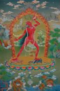 Tibetan Buddhism Paintings - Vajrayogini of the Sakya tradition by Binod Art School