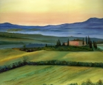 Italian Landscape Paintings - Val d by Cecilia  Brendel