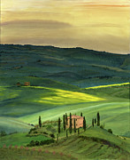 Italian Landscape Paintings - Val d II by Cecilia  Brendel