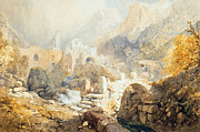 Italian Landscape Paintings - Val di Ferriera by James Baker Pyne