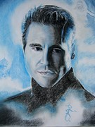 Hand Drawn Originals - Val Kilmer- The Saint detail by Anne Provost
