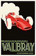 Sport Legends Framed Prints - Valbray Historic Grand Prix Framed Print by Nomad Art And  Design