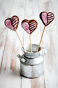 Assorted Posters - Valentine cookie pops Poster by Kati Molin
