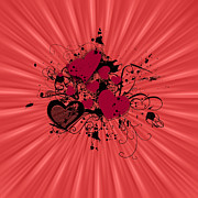 Valentine Day Illustration Print by Darren Fisher