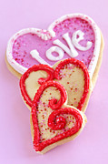 Cookies Photos - Valentine hearts by Elena Elisseeva