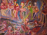 Stage Painting Originals - Valentine oh Valentine Ballet by Judith Desrosiers