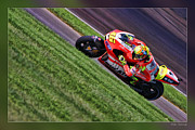 Apparel Framed Prints - Valentino Rossi Going Up Framed Print by Blake Richards