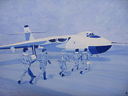 Bomber  Painting Prints - Valiant Scramble Print by Jonathan Laverick