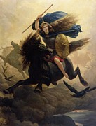 Wagner Framed Prints - Valkyrie Framed Print by Peter Nicolai Arbo