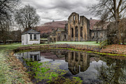 Fish Pond Prints - Valle Crucis Abbey Print by Adrian Evans