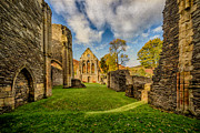 Fall Grass Metal Prints - Valle Crucis Abbey Ruins Metal Print by Adrian Evans