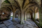 Stone House Digital Art Prints - Valle Crucis Chapter House  Print by Adrian Evans