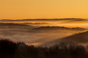 Rural Landscapes Prints - Valley Fog Print by Bill  Wakeley