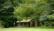 Valley Forge Cabin Print by Sherlyn Morefield Gregg