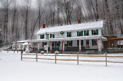 Wintery Digital Art Prints - Valley Green Inn After a Snowfall Print by Bill Cannon