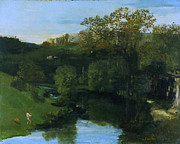 Famous Artists - Valley by Gustave Courbet