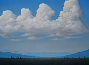 Thunderheads Art - Valley by Kenneth Stockton