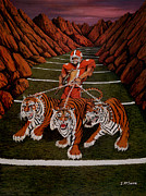 Sports Art Paintings - Valley of Death by Jeff McJunkin