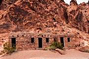 Valley Of Fire Posters - Valley of Fire Cabin Poster by Robert Bales