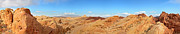 Colorful Cloud Formations Posters - Valley of Fire pano Poster by Jane Rix